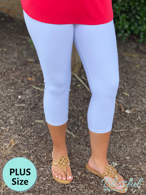 White Capri Jeggings, PLUS