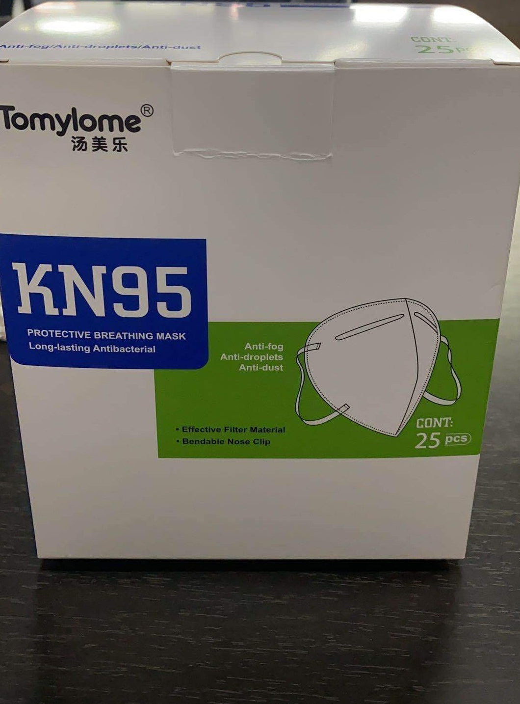 Folding KN95 Respirator (9501) - [N95 Equivalent] Mask Without Valve (25 pack, includes shipping) Limit: US Customers ONLY
