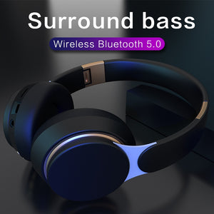 Noise cancelling Bluetooth  headphone Foldable Stereo Adjustable Earphones With Mic