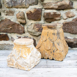 Carved Wooden Bases and Pillars Collection