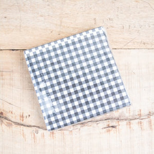 Black & White Check Beverage Napkin