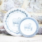Load image into Gallery viewer, Black & White Farm Animal Plate Collection