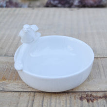 Load image into Gallery viewer, White Porcelain Bird Bowl