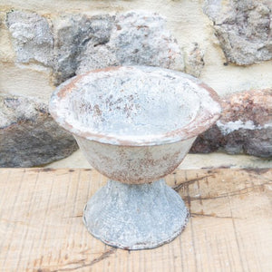 Metal Urn with Zinc Finish