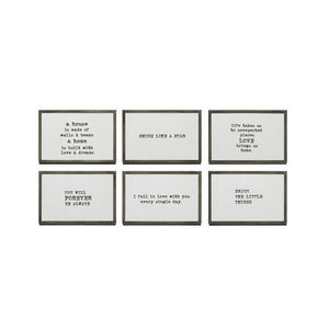 Zinc Framed Quotes