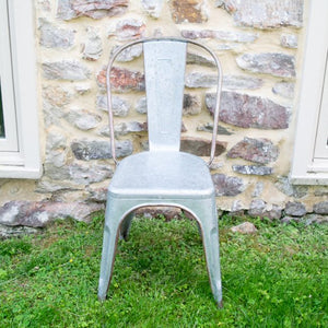 Galvanized Metal Cafe Chair