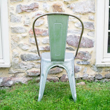 Load image into Gallery viewer, Galvanized Metal Cafe Chair