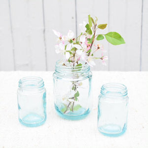 Aqua Recycled Jars