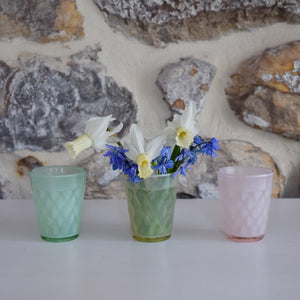 Pastel Glass Tealight Holders