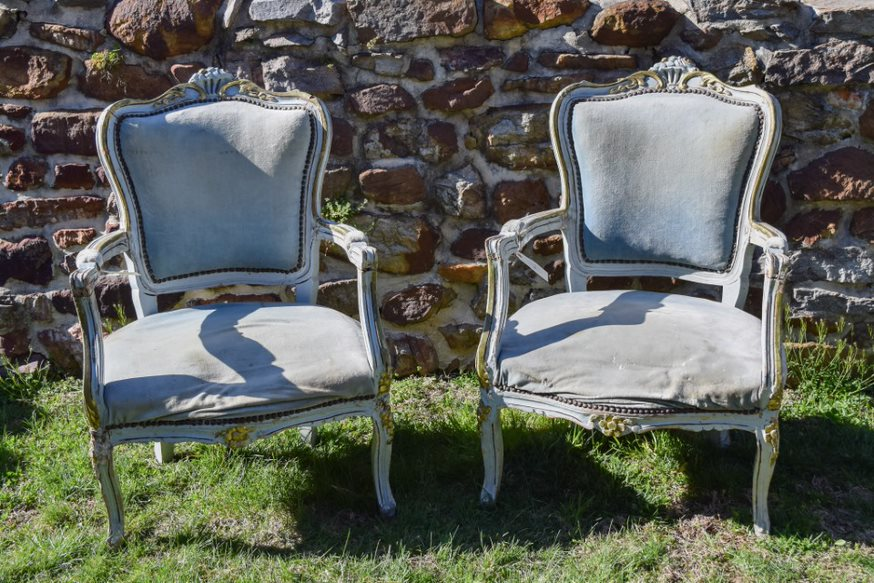 Vintage French Empire Armchairs