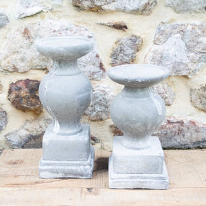 Aged Cement Candleholder