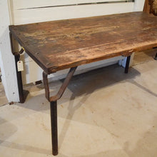 Load image into Gallery viewer, Antique iron & Wood Table