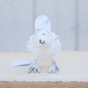 White Cast Iron Bird