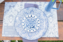 Load image into Gallery viewer, Blue Patterned Dinner Plates