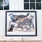 Load image into Gallery viewer, Domestic Dogs Framed Print