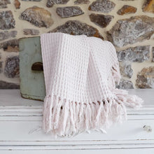 Load image into Gallery viewer, Pale Pink Cotton Throw