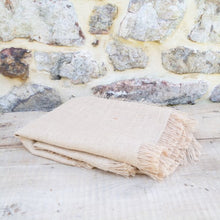 Load image into Gallery viewer, Burlap Table Runner with Fringed Edge