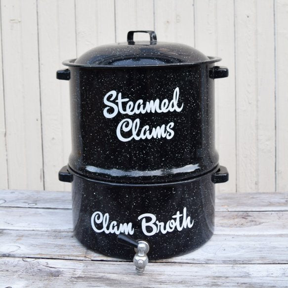 Graniteware Clam Steamer Pot
