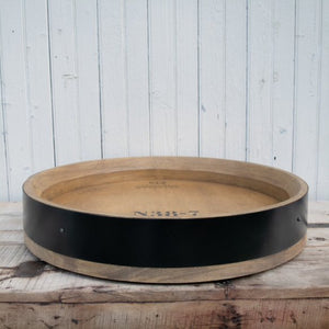 Wine Barrel Banded Lazy Susan