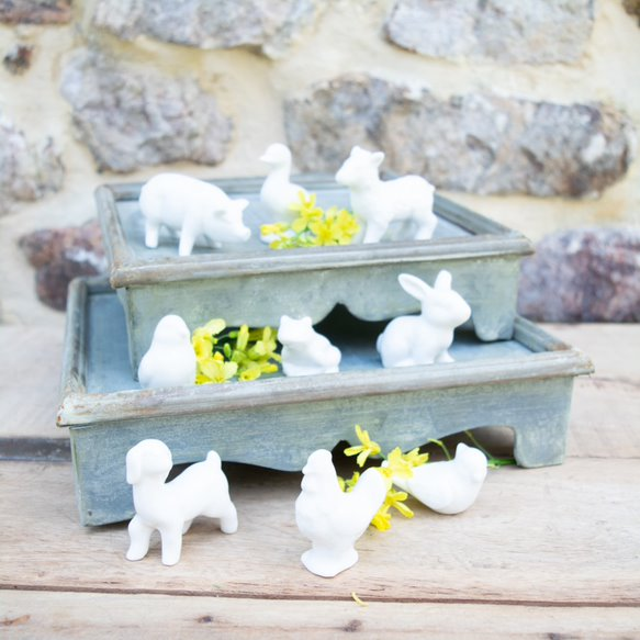 Stoneware Farm Animals Set