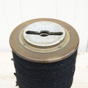 Vintage Black Spool of Yarn