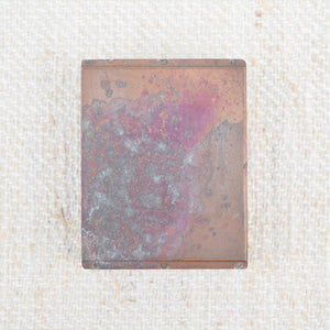Antique Copper Plated Wooden Stamps