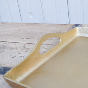 Square Gold Tray