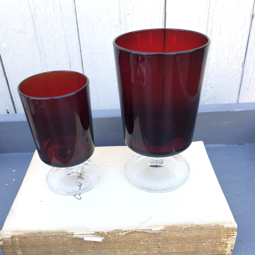 Cranberry Glass Stemware