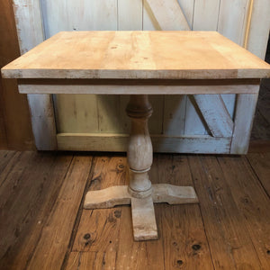 Square Natural Wood Table