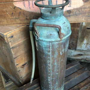 Vintage Copper Fire Extinguishers