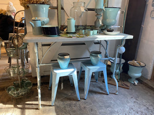 Pastel Blue Metal Table