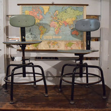 Load image into Gallery viewer, Adjustable Vintage Science Lab Chairs