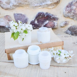 Vintage White Milkglass Jars