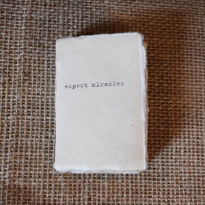 Mini Deckle Edge Notebook