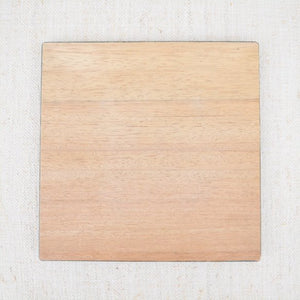 Square Woodgrain Patterned Charger