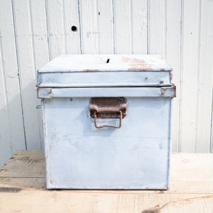 Zinc Box with Hinged Lid