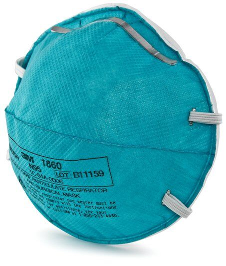 3M™ Cupped Particulate Respirator & Surgical Mask 1860