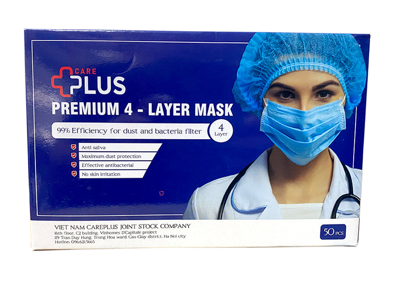 Careplus Premium 4 Layer Mask - Dust and Bacteria Filter