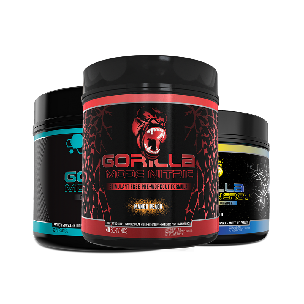 Gorilla Mode Nitric + Energy + EAAs Bundle
