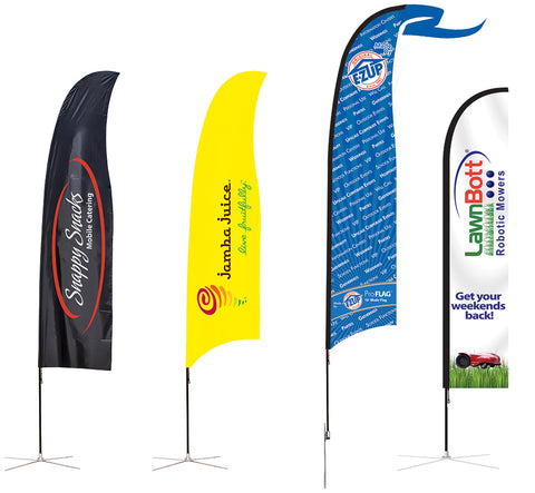 OUTDOOR FLAGS - DOUBLE SIDED PRINT - (3 SIZES)