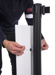 12 x 30 Pre-Printed Stanchion Sign, Straight, Crowd Control – Please Stay 6 FT Apart