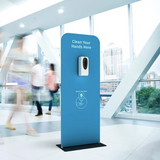 (QTY 100): AUTOMATIC HAND SANITIZER DISPENSER AND STAND