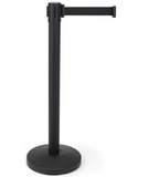 "(QTY: 12) 12"" x 36"" Black Stanchion Posts with 6.5' Black Retractable Belt $45 Each Plus Shipping"