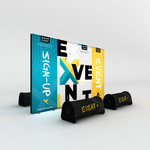 WaveLight Infinity Event Marketing Light Box Displays with air bench seating