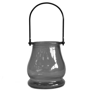 Recycled Candle Lantern - Grey