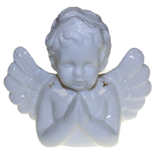 Angel Praying Oil Burner - White