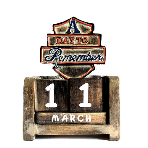Day to Remember Calender - A Day to Remember - carved sign
