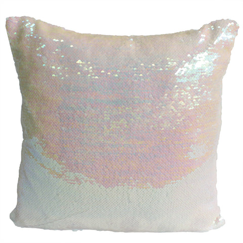 2x Mermaid Cushion Covers -Pink Champagne & Snow