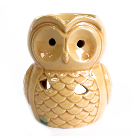 Large Honey Owl Oil Burner