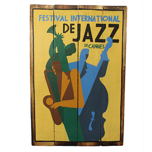 Rough Wooden Sign - Jazz De Cannes